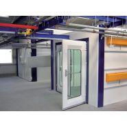 Cabine de peinture poudre (ventilation verticale - cabine fermée)