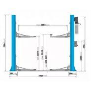 Pont élévateur électro-hydraulique 2 colonnes 4 tonnes 380 volts