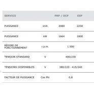 Gtw-2080 t5 50 hz triphasé groupe électrogène industriel - genelec -2080 kva