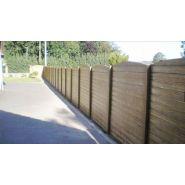 Clôtures en béton aspect bois - doizon - scellement 50 à 90 cm
