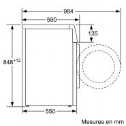 Wm12b211ff lave-linge professionnel - bsh electroménager - 1200 trs/min avec variospeed
