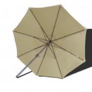 Parasol lacanau soie greige 300 cm alu manivelle - alex stores et parasols