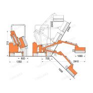 Airone-100 broyeur d'accôtement - deleks - largeur de travail 1000 mm