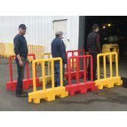 Barriere  de securite amovible jaune lot de 10