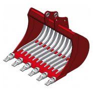 Mbi ar15 fast lock godets squelette pour minipelle 1,2-1,8t - uniter 45 - 500 mm