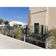 Paravent fixe glass wall pour terrasse chr
