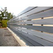 Chloris - barrière pvc ajourée - la clôture française - disponible en 3 hauteurs allant de 0,82 m à 1,42 m