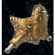 Cureuses de fossés et rigoleuses roto-trancheuses hydrauliques - dondi - vitesse 0.8 à 1.2 km/h