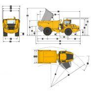 B30e (4x4) tombereaux articulés - bell - 28 000 kg