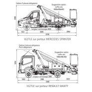 162 tle camion nacelle - fe group - bras avec 2 éléments télescopique