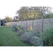 Clôtures en béton immitation bois - clôtures nicolas - hauteur scellement 50 à 200 cm