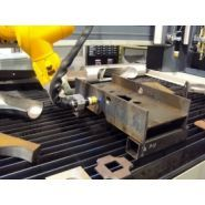 Combicut - machines d'oxycoupage - haco - hauteur de coupe réglée par robot