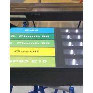 Panneau affichage prix carburant - artelux - visualisation rapide et simple