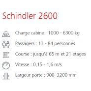 Schindler 2600 monte-charge - schindler - capacité jusqu'à 4000 kg