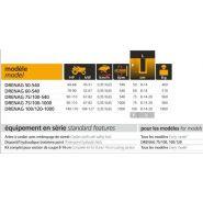 Cureuses de fossés et rigoleuses dondidrenag - dondi - vitesse 0.35 à 0.65 km/h
