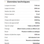 Rollroc 7100 - bennes tp - rolland - charge utile approximative : 22600 kg