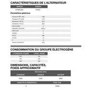 Ap-1650 50 hz triphasé groupe électrogène en container - 1.674,0 kva
