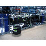Carrousel rotatif vertical motorise pour pneus et jante