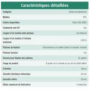 Cerbere - clôture pvc persienne - la clôture française - 21 hauteurs comprises entre 0,31 m et 1,88 m