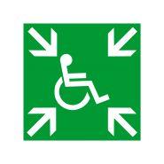 Etiquette / plaque de sécurite point de rassemblement  pvc (pictogramme)