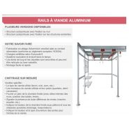 Rail a viande aluminium