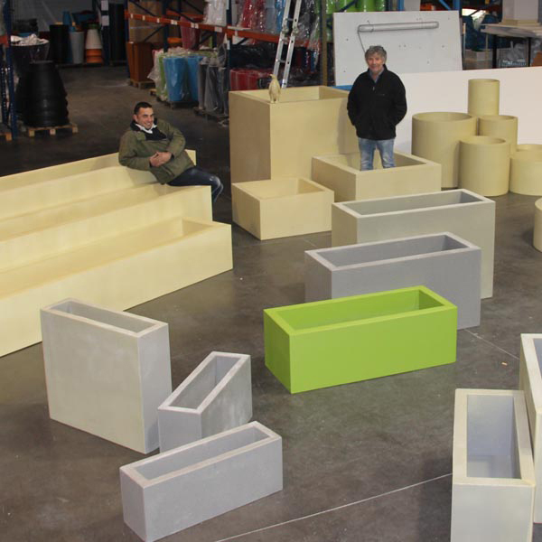 jardini re bac rectangle en r sine sur mesure ultra. Black Bedroom Furniture Sets. Home Design Ideas