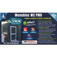 Monobloc wc pmr raccordable 205cm x 205cm x 247cm