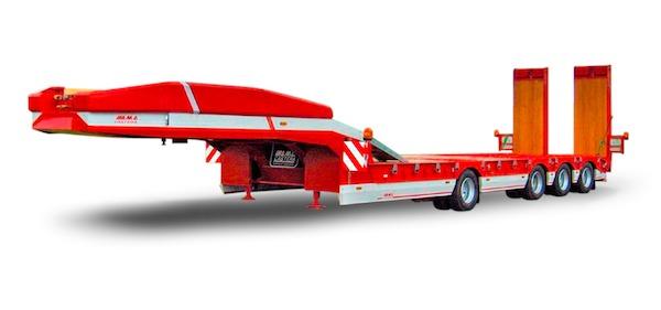Semi-remorque porte-engin 3 essieux