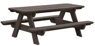 Tables publiques en bois